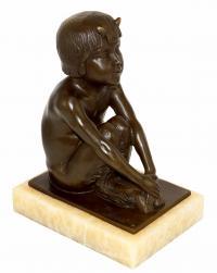 Art Déco Figur – signiert Paul Silvestre – Skulpturen kaufen