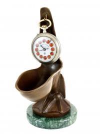 Art Deco Skulptur – sign. Verler – Uhrenständer – Kunst online kaufen