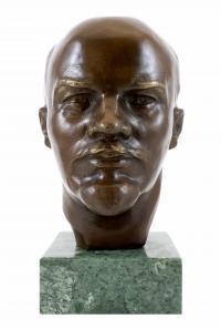 Bronzekopf - Lenin - Russischer Kommunist - signiert