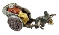 Chinesischer Kutscher von Milo - Von Hand bemalte Bronzefigur