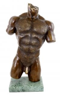 Erotik Akt - Gay Bronze - Akt Statue - Sexy Figur auf Marmor