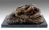Erotik Akt – Wiener Bronze – sign. Lambeaux – Sexy Figuren kaufen