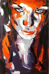 Erotisches Porträt - Martin Klein - Modernes Gemälde - Sexy Wandbild