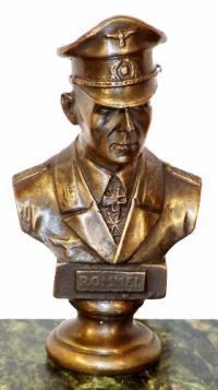 Feldmarschall Erwin Rommel - Bronze-Büste - sign. Lederer