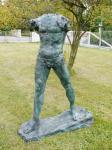 Großer Torso aus Bronze - Der Schreitende (um 1900) - sign. Auguste Rodin