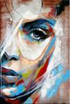 Modern Art - Abstraktes Frauenportrait - signiert. Martin Klein