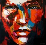 Modern Art – Abstraktes Portrait – signiert. Martin Klein