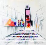 Modernes Acrylbild - New York Bild auf Leinwand - sign. Martin Klein