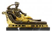 Paolina Borghese als ruhende Venus - Antonio Canova - Bronze auf Marmor