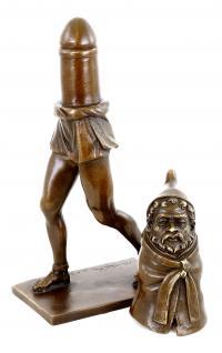 Phallusfigur - Gott Priapus - Erotikskulptur - zweiteilig - M. Nick