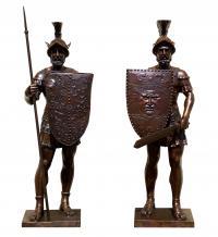 Skulpturen für den Garten – sign. Thorvaldsen – Griechische Statuen