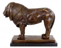 Tierskulptur - Bronze Löwe - Löwenfigur - Bugatti