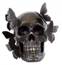 Totenkopf Bronze - Schädelskulptur - Martin Klein - moderne Kunst